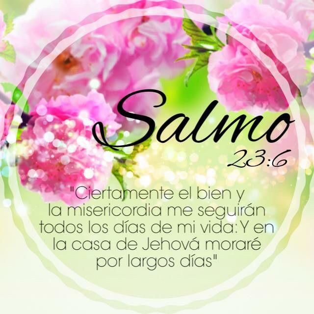Versiculos De La Biblia De Fe: #Salmos 23:6 #Biblia #Promesas #versiculos De La Biblia