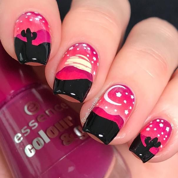 20 Hot Sunset Nail Designs To Rock Your Summer Creative
