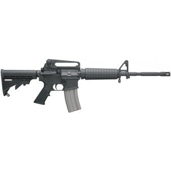 "One of Bushmasters most popular Carbine models, the M4 Type features a distinctive military barrel profile and six position telestock. This is great for 3 gun match shooting, home defense and law enforcement use. The A2 and A3 type Patrolman's Carbines are modeled after the M4 carbines, but with additional barrel length to make them legal for sale to individuals (semi-automatic configuration with 16"" barrel). These rifles feature a 16"" barrel chrome lined in both bore and chamber, birdcage…"