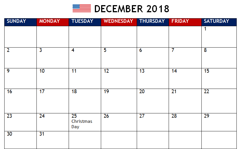 december 2018 calendar with holidays usa us holidays holidays and events 2018 holiday calendar