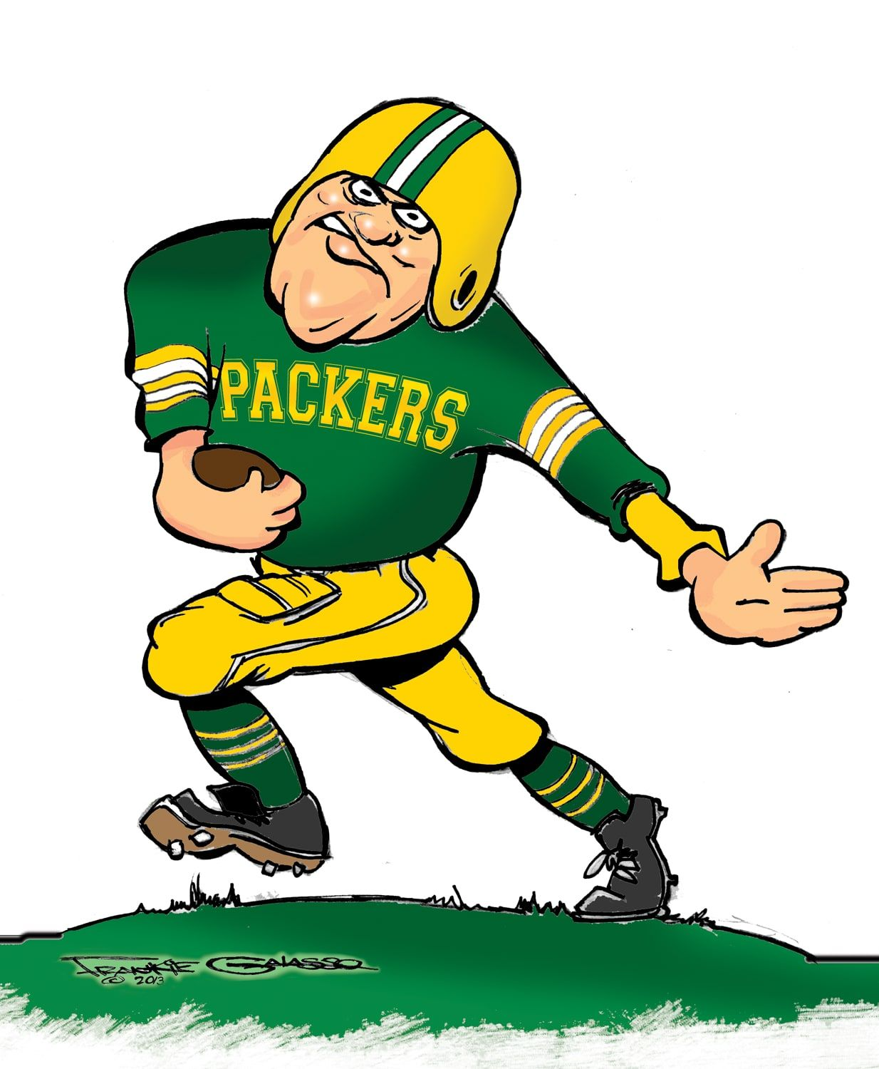 1962 Packers Artist S Version Packers Football Football Logo Nfl Green Bay
