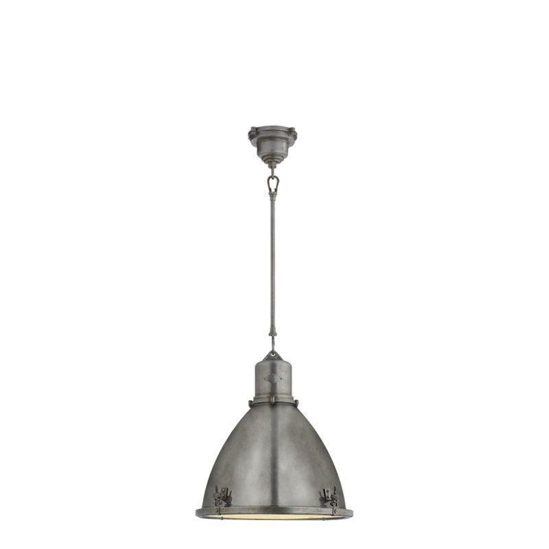 Fulton Medium Pendant in Industrial Steel - Ceiling Fixtures ...