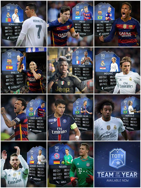 7233c92e5 FIFA 16 Entire TOTY In-form Release FUT