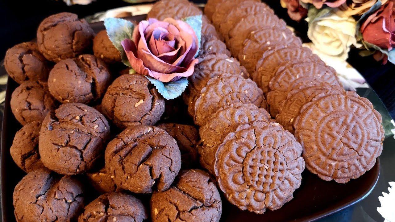 بسكويت العيد بسكويت الكاكاو سهل ولذيذ وبدوب بالتم بنصحكن تجربوه مذاق ولا أروع Food Desserts Chocolate Cookie