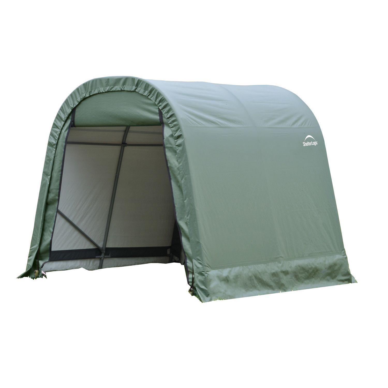 a box peak shelterlogic in frame grey p shelter rib style s garage cover