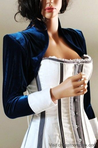 Blue Steampunk Velvet Bolero Jacket - Gothic Cosplay Costume - gothic: shop our collection of steampunk bolero jacket By jennsecret - LoveItSoMuch