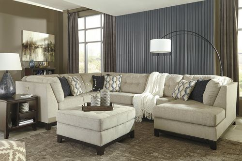 Benchcraft Beckendorf 3 PC Right Side Chaise Sectional Sofa 15004