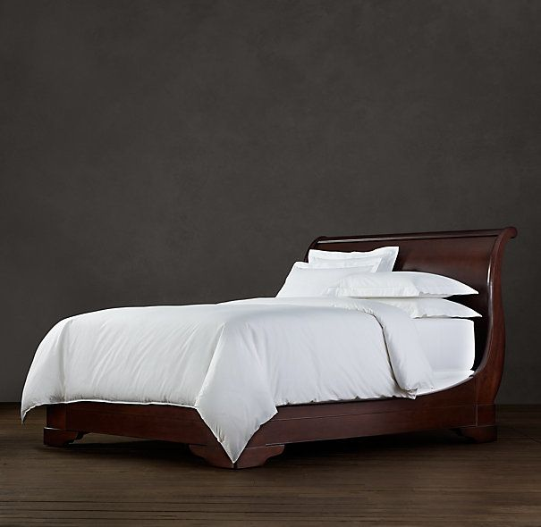 Marston Sleigh Bed Without Footboard Dark Cherry