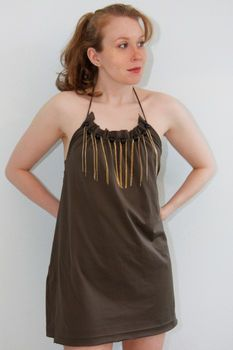 halter dress from men's t-shirt diy