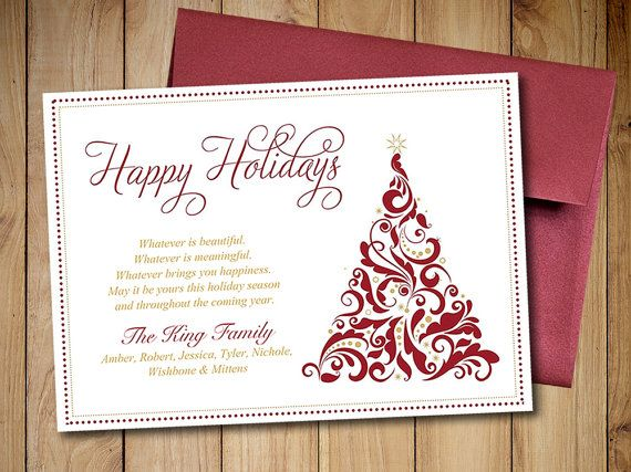 Holiday Greeting Card Template template for holiday greeting card