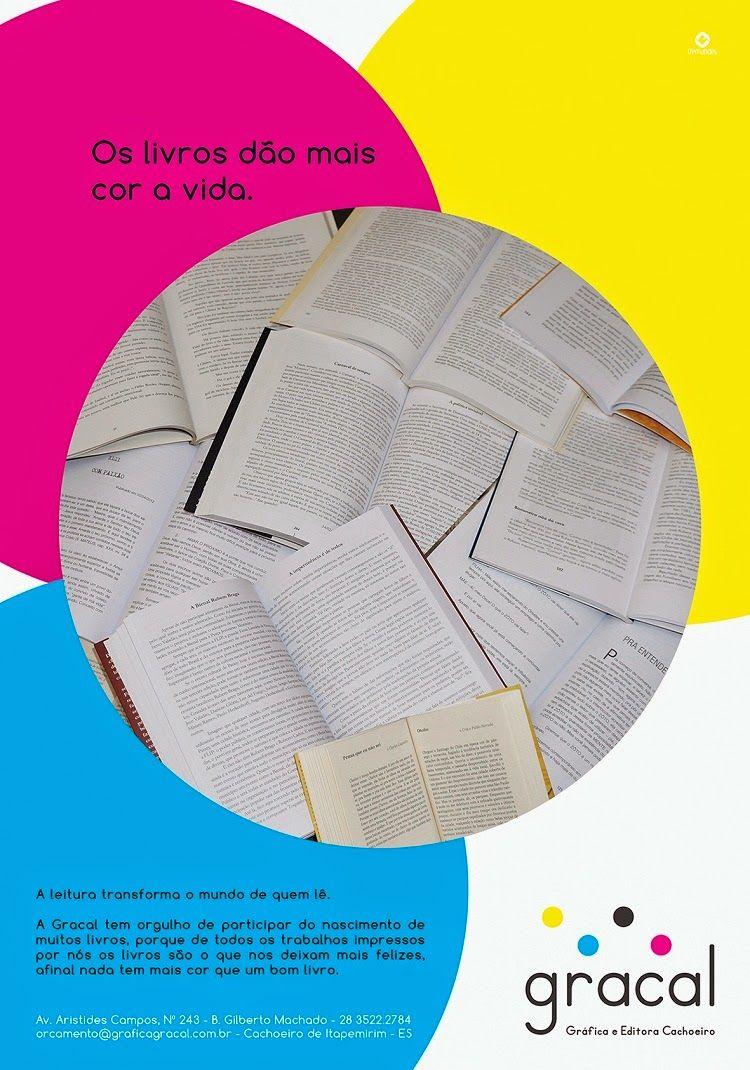 Lfernandes: Anúncio Gracal | Livros dão cor à vida