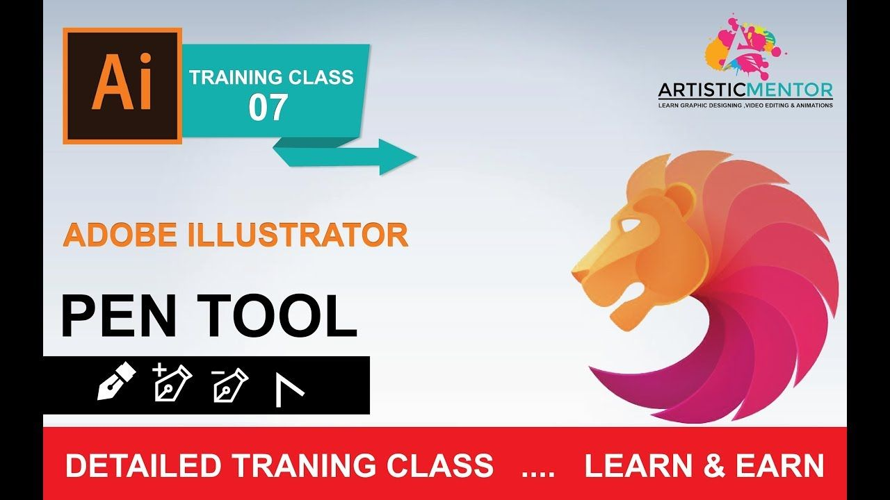adobe illustrator training class 7 - how to use pen tool urdu
