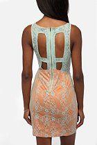 Sparkle & Fade Lace Illusion Dress