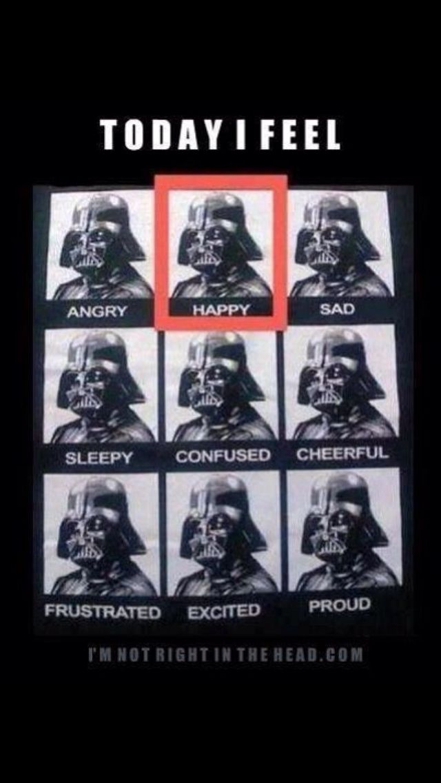 1ed72d20 The many faces of Vader | LMFAO | Star wars outfits, Darth vader ...
