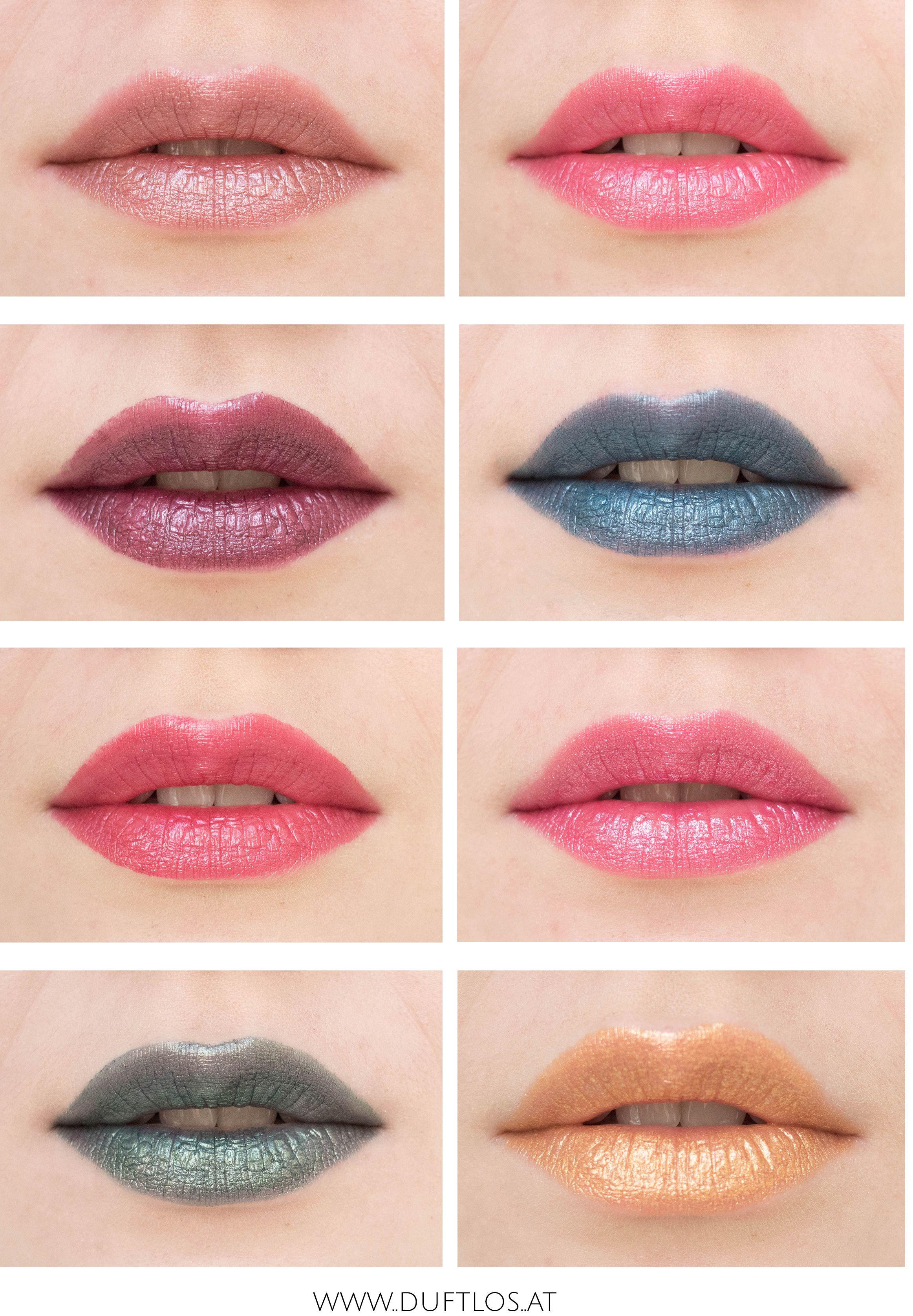 Lip Metallic Matte: Review & Swatches: Essence Metal Shock Lipsticks