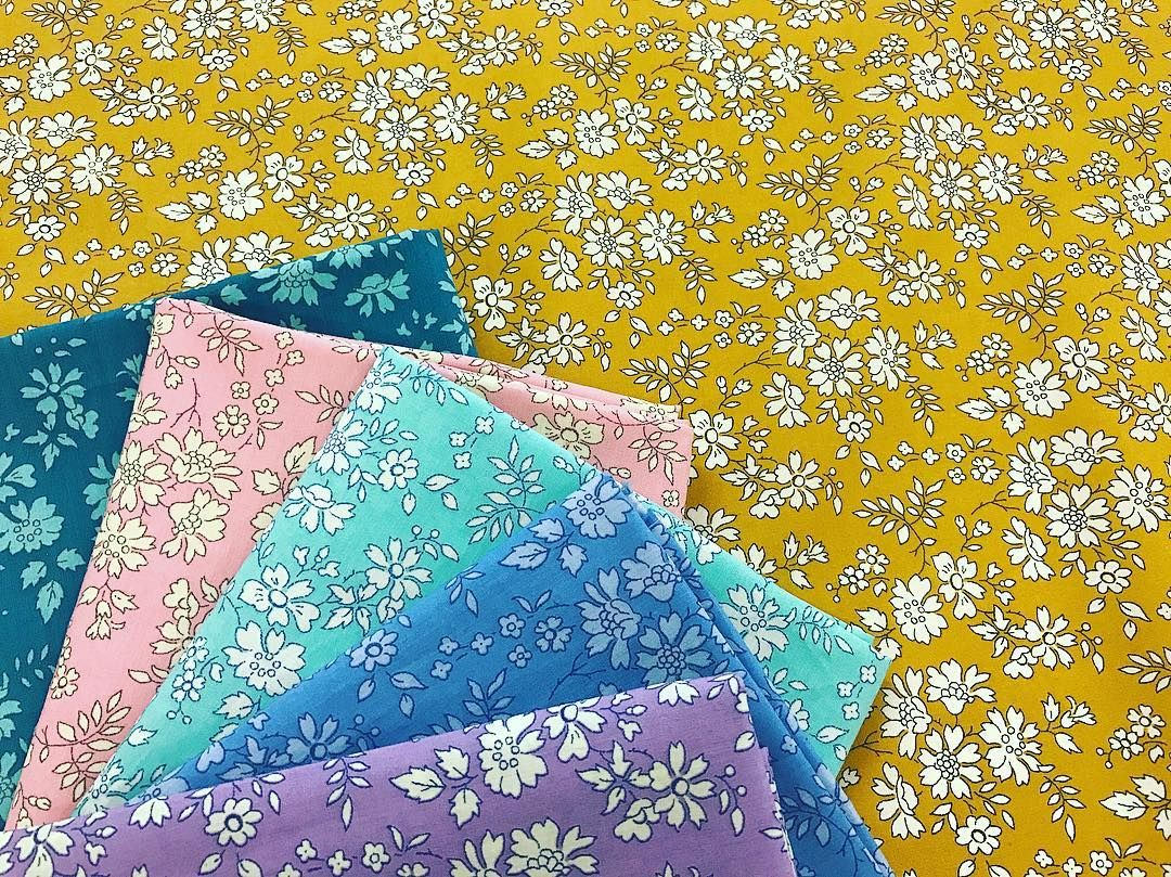 Yes! Our good friend Capel G is back in stock, online now! Pass the mustard please... ✨ Which Capel colour way is your favourite?  . . . . #thestrawberrythief#libertyfabric#libertytanalawn#libertyartfabrics#loveliberty#fabric#sewing#crafty#boho#bundle#yellow#mustard#rainbow#capel#libertycapel#patchwork#quilting#sewgood