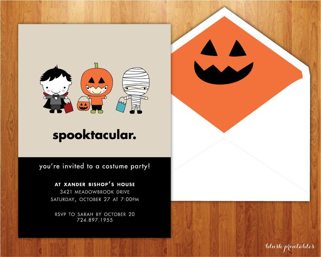 Spooktacular - Kids Halloween Party Invitation - Birthday Party ...