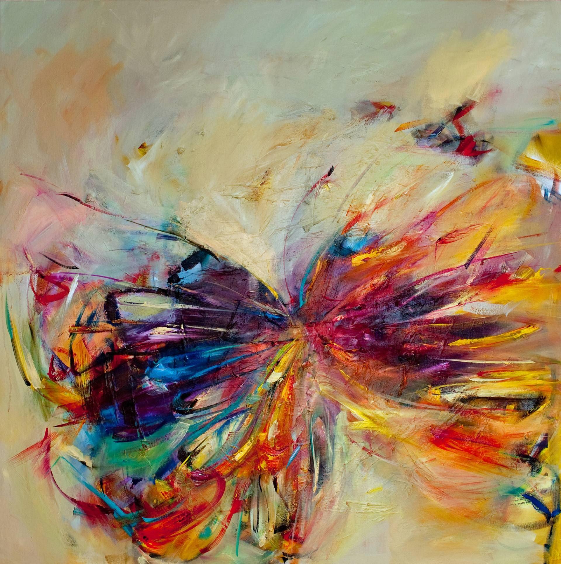 "Saatchi Art Artist: Victoria Horkan; Oil 2011 Painting ""Butterfly Series 1"""