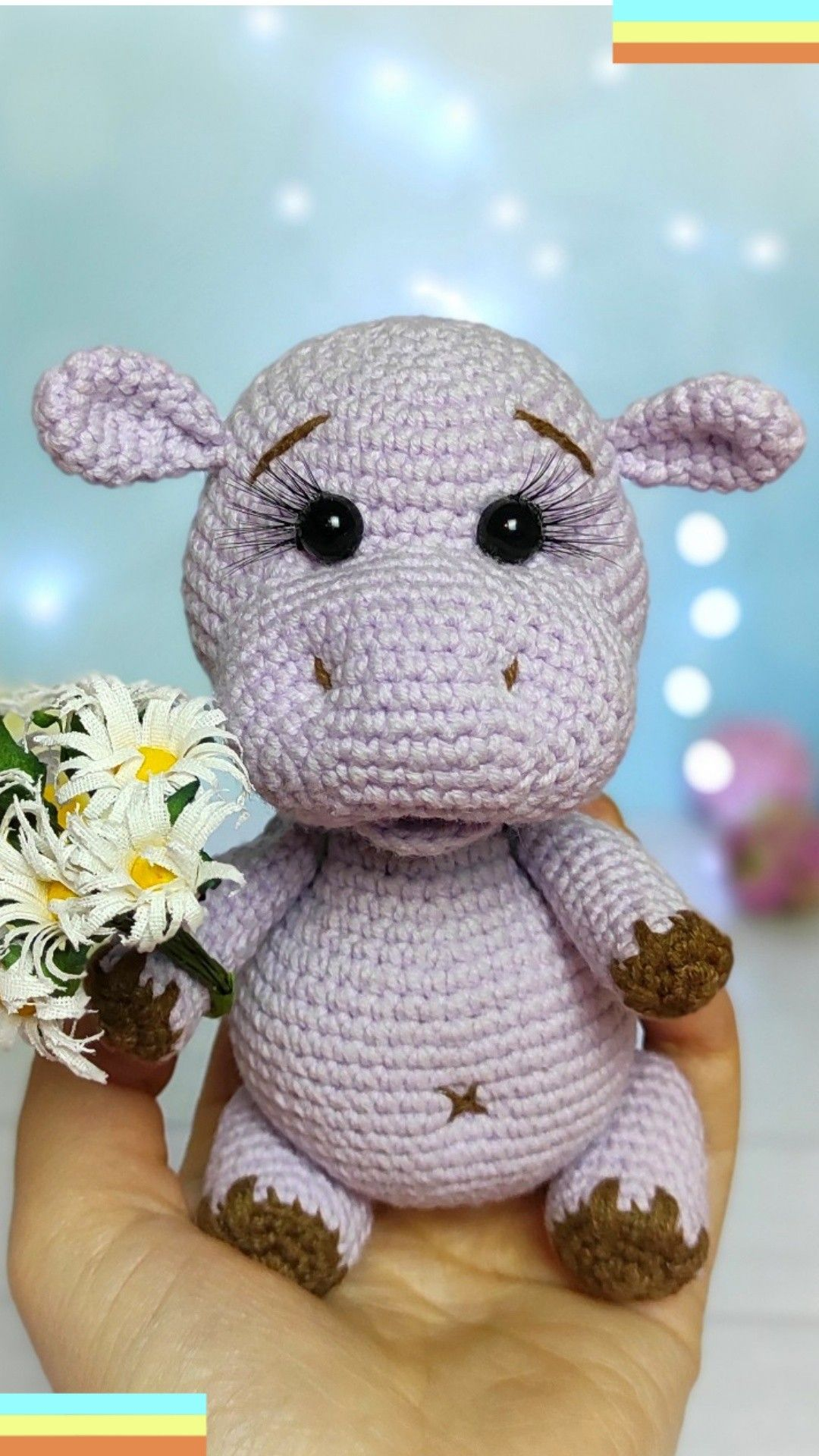 Crochet pattern Hippo Amigurumi animal | Etsy
