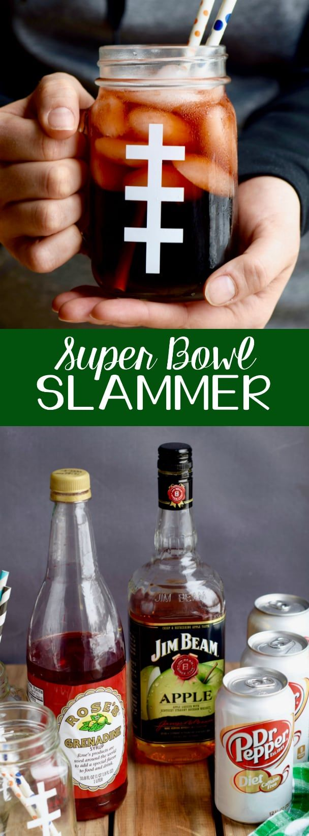 this super bowl slammer drink recipe is a great quick way to get a