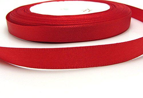 """roll ribbon 3//8/"""" Wedding Party Craft Satin Ribbon Solid color WHITE 25yds 10mm"""