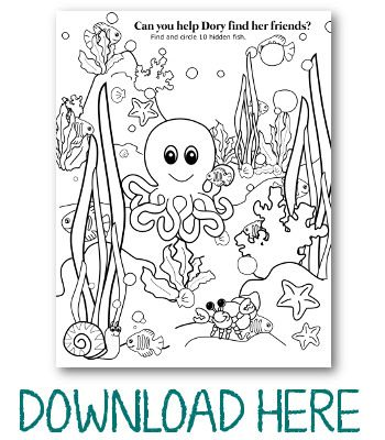 Under the Sea Kid Activity Page Kid activities, Activities and Craft - new pixar coloring pages finding nemo