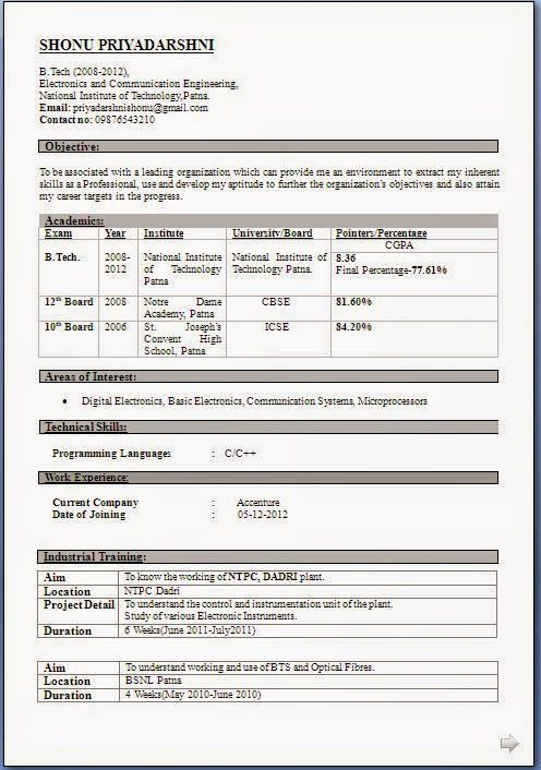 download free cv Sample Template Example ofExcellent Curriculum - format resume download