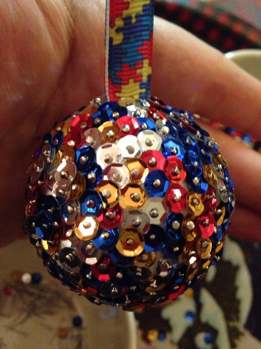Autism awareness Christmas bauble