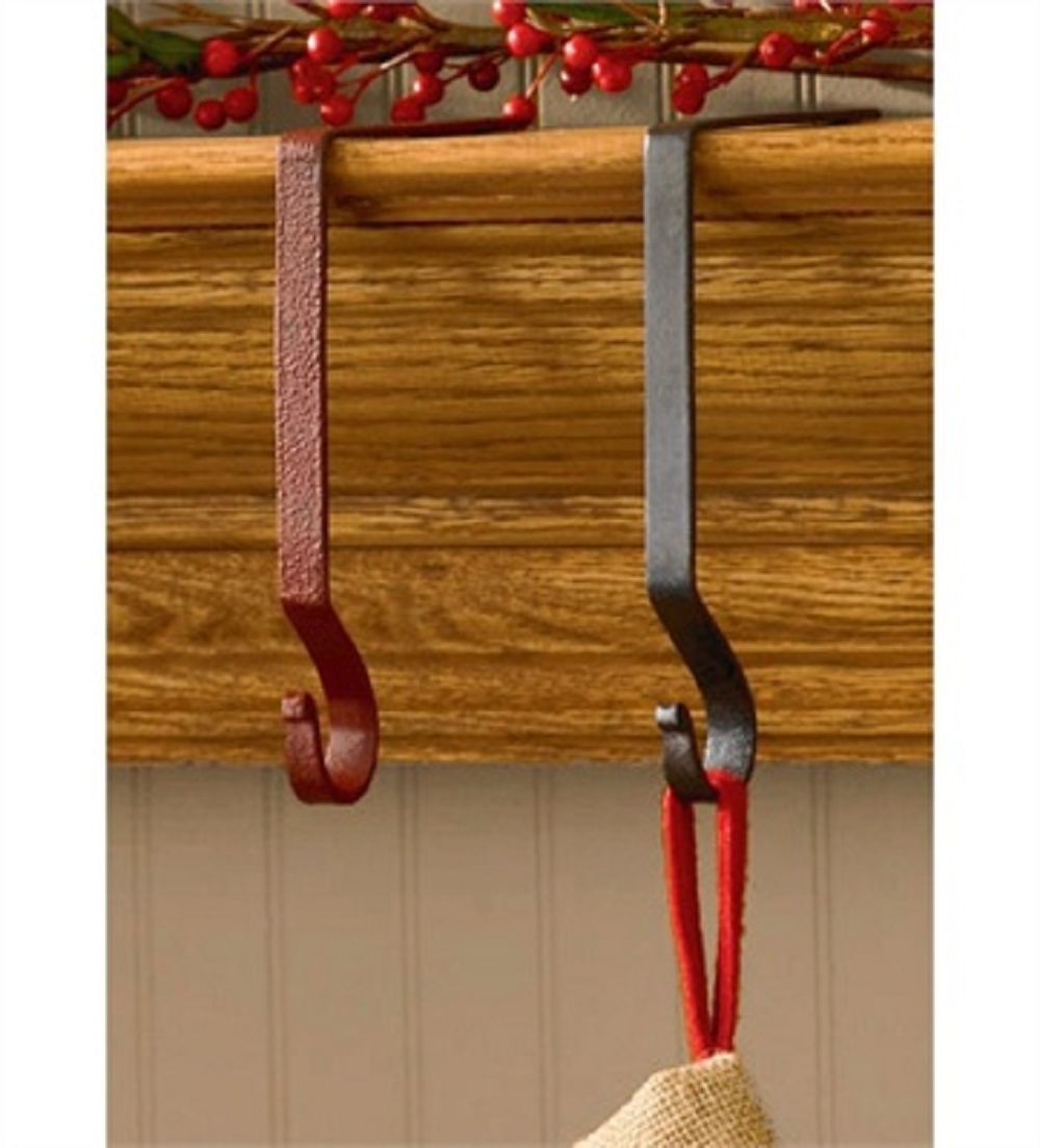 Original CHRISTMAS STOCKING HOLDERS hanger hook support Mantle Mantel clips xmas | eBay