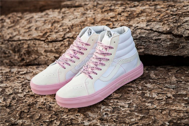 3a2a9ab68f8d74 ASSC x DSM x Vans SK8 Hi White Pink Skateboard Shoes Limited Edition 35-44