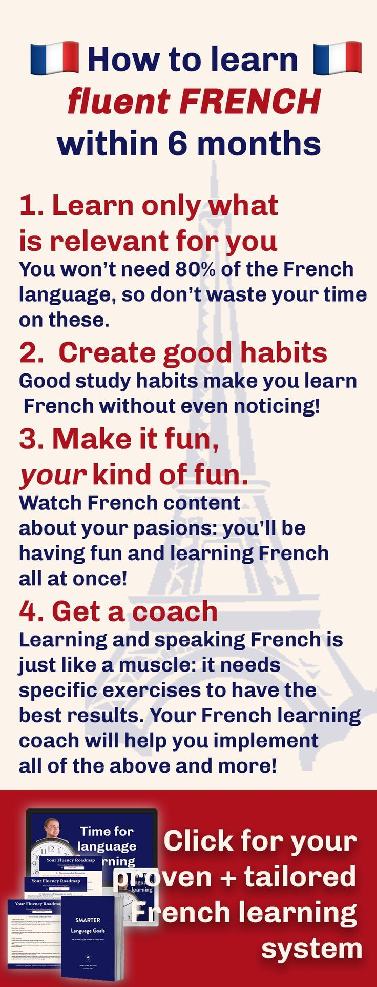Looking To Learn French Fast Thanks To This Proven Tailored System French Learning Will Be Fast Easy An Learn French How To Speak French Learn French Fast