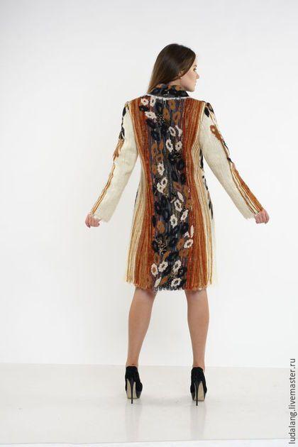 b01764d297e Верхняя одежда ручной работы. Пальто Багира. Авторский трикотаж