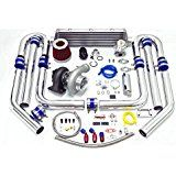 Deals week Universal Anti-Surge Compressor GT35 T3 11pc Turbo Kit (Silver Intercooler / Silver Pipping) sale