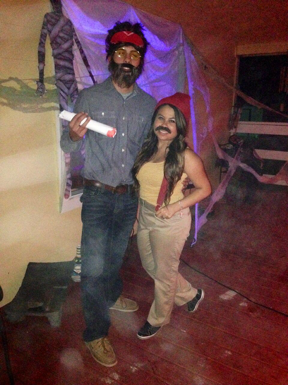 Cheech and Chong #halloween #DIY #couple | Halloscreammmmmm ...