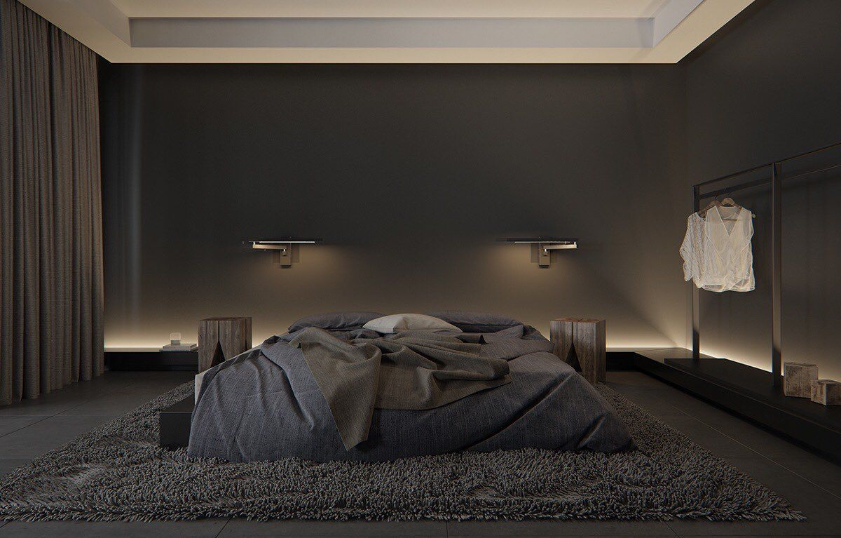 Pin By Nicholas Kohler On Live Luxurious Bedrooms Black Bedroom Design Modern Bedroom Decor Black luxury minimalist room