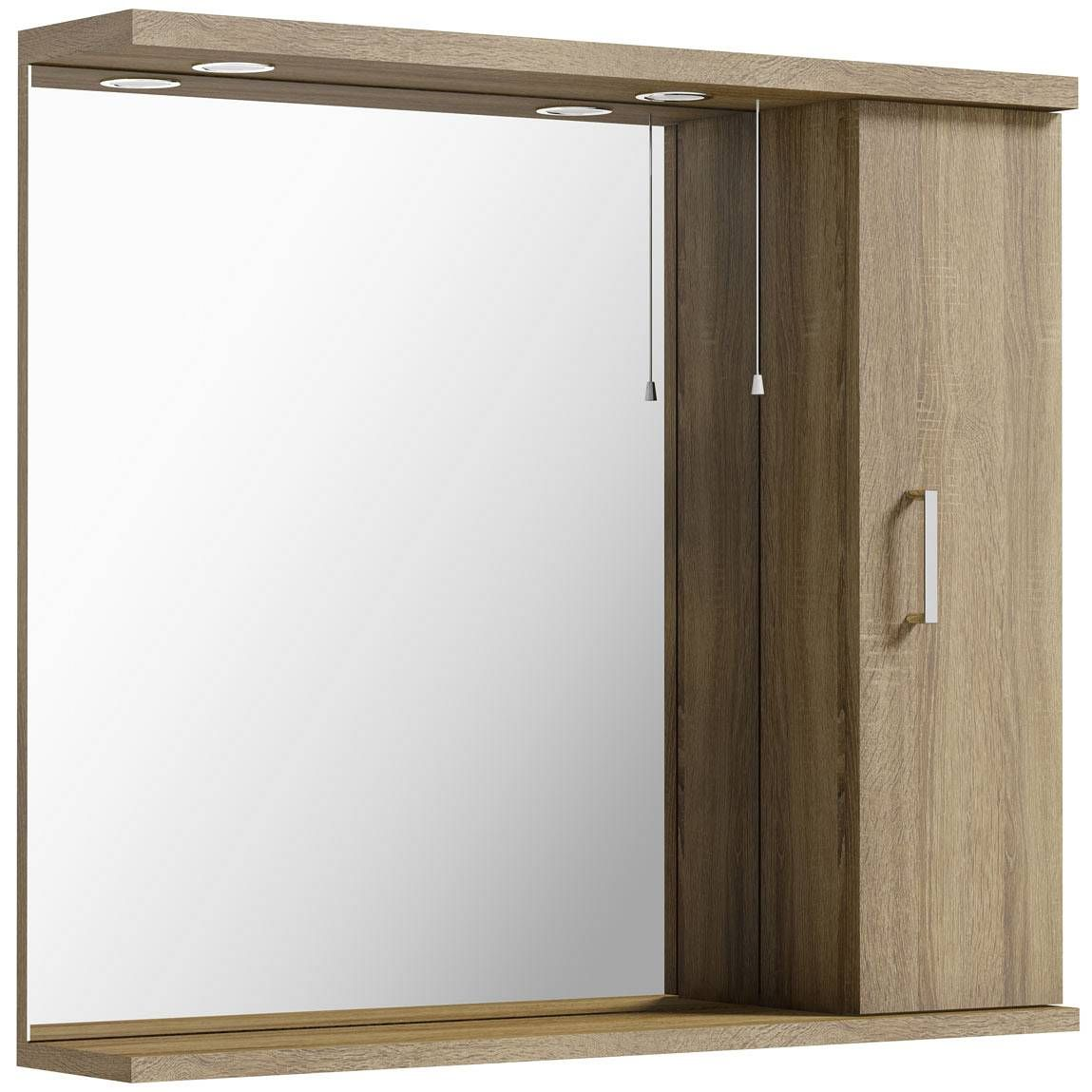 Sienna Oak 85 Mirror with lights | Bathroom | Pinterest | Bathroom ...