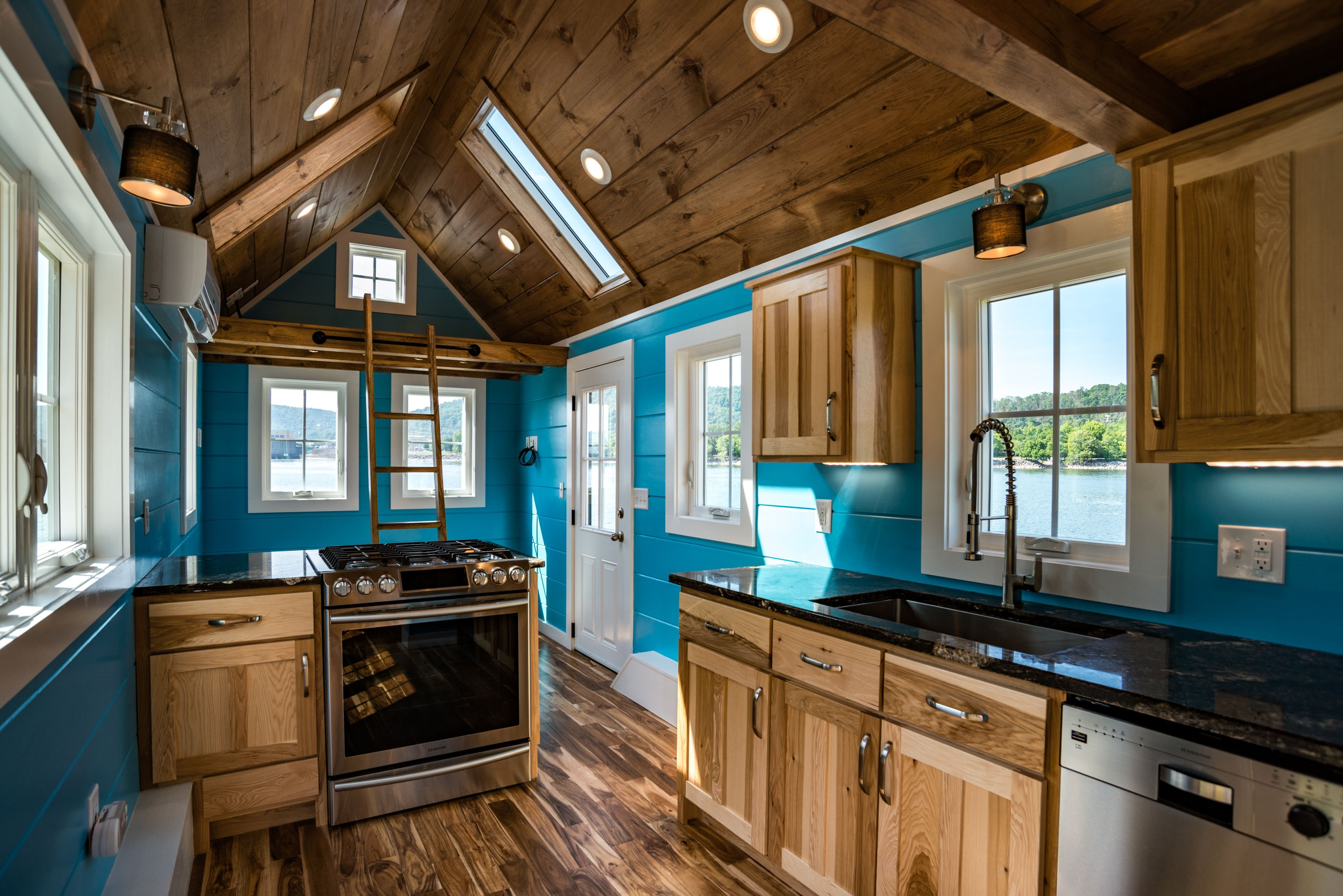 Beautiful kitchen in a custom tiny home by TimbercraftTinyHomes.com ...