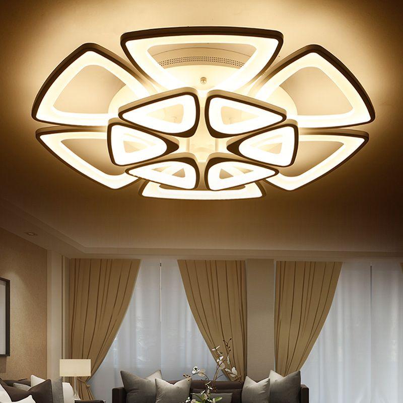 modern led ceiling lights for living room bedroom acrylic ceiling lamp luminarias para sala. Black Bedroom Furniture Sets. Home Design Ideas