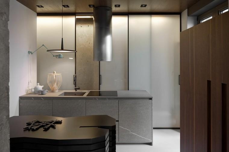 renovierte wohnung kenzo olga akulova, polierter oder unpolierter zement für moderne wohnungen, Design ideen