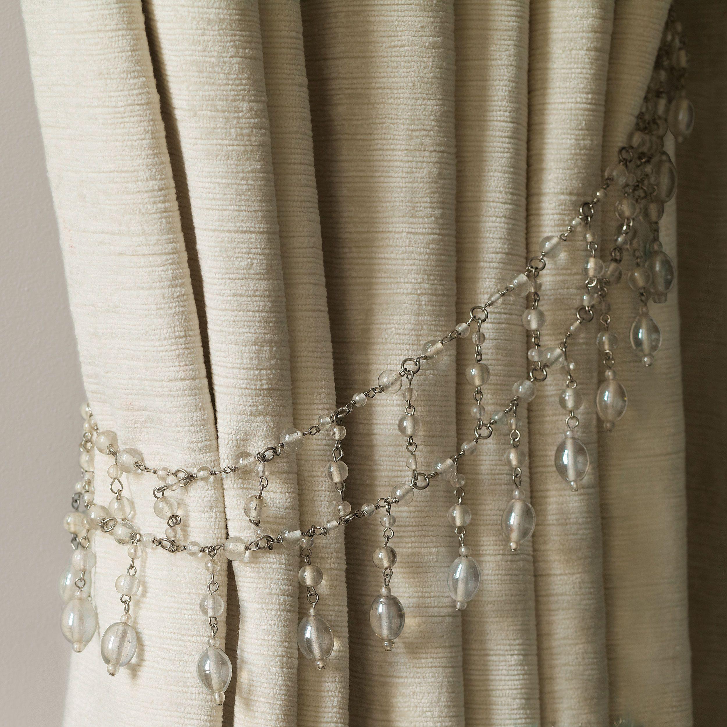backs tassels evie glass bead curtain