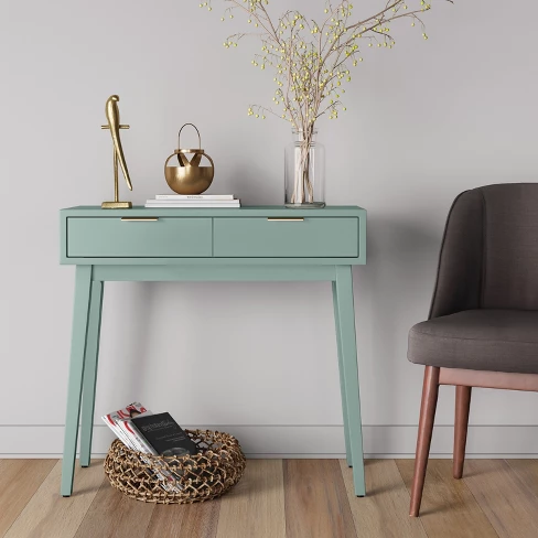 Hafley Two Drawer Console Table Smoke Green Project 62 Desks For Small Spaces Furniture Inexpensive Furniture