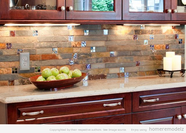 Kitchen Backsplash With Cherry Cabinets kitchen backsplash tile ideas | kitchen backsplash ideas for your