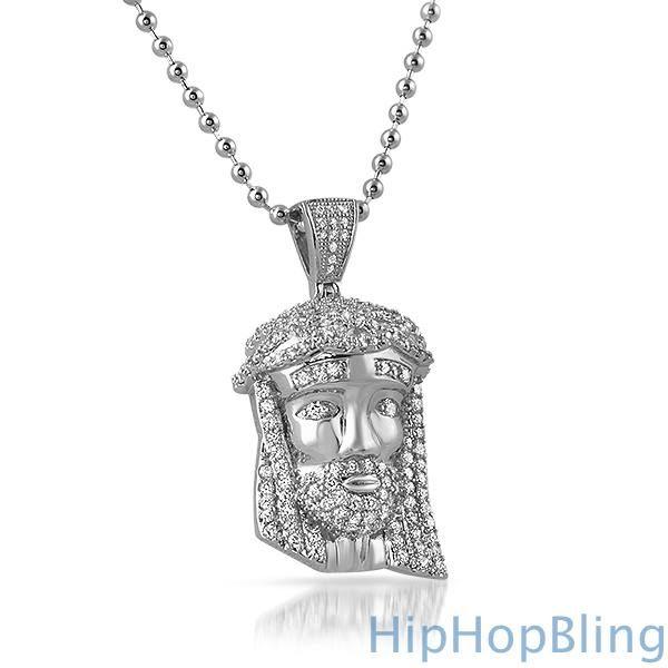 Rhodium micro jesus piece pendant 2 jesus piece jesus face and hiphopbling the micro jesus piece pendant is very popular among rappers and celebrities aloadofball Choice Image