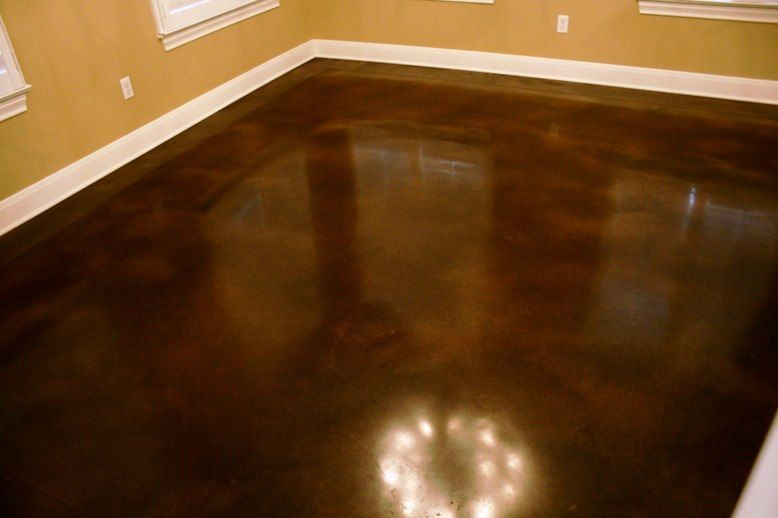 I Want This Floor Black Umber Stained Concrete Stained Concrete Concrete Flooring