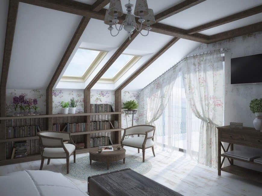 Ein Hauptabgehobener dieses Schlafzimmer ist die schrägen Decke - schlafzimmer mit schräge