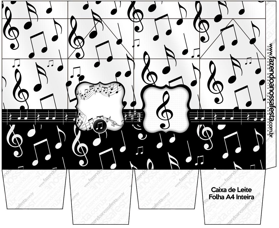 Letras Minegraft Fazendo A Nossa Festa: Caixa De Leite Notas Musicais