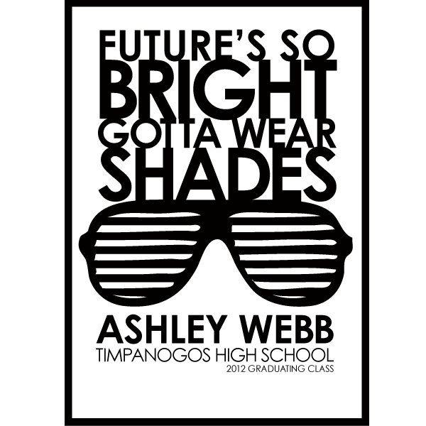 printable DIY Future's so BRIGHT got wear SHADES