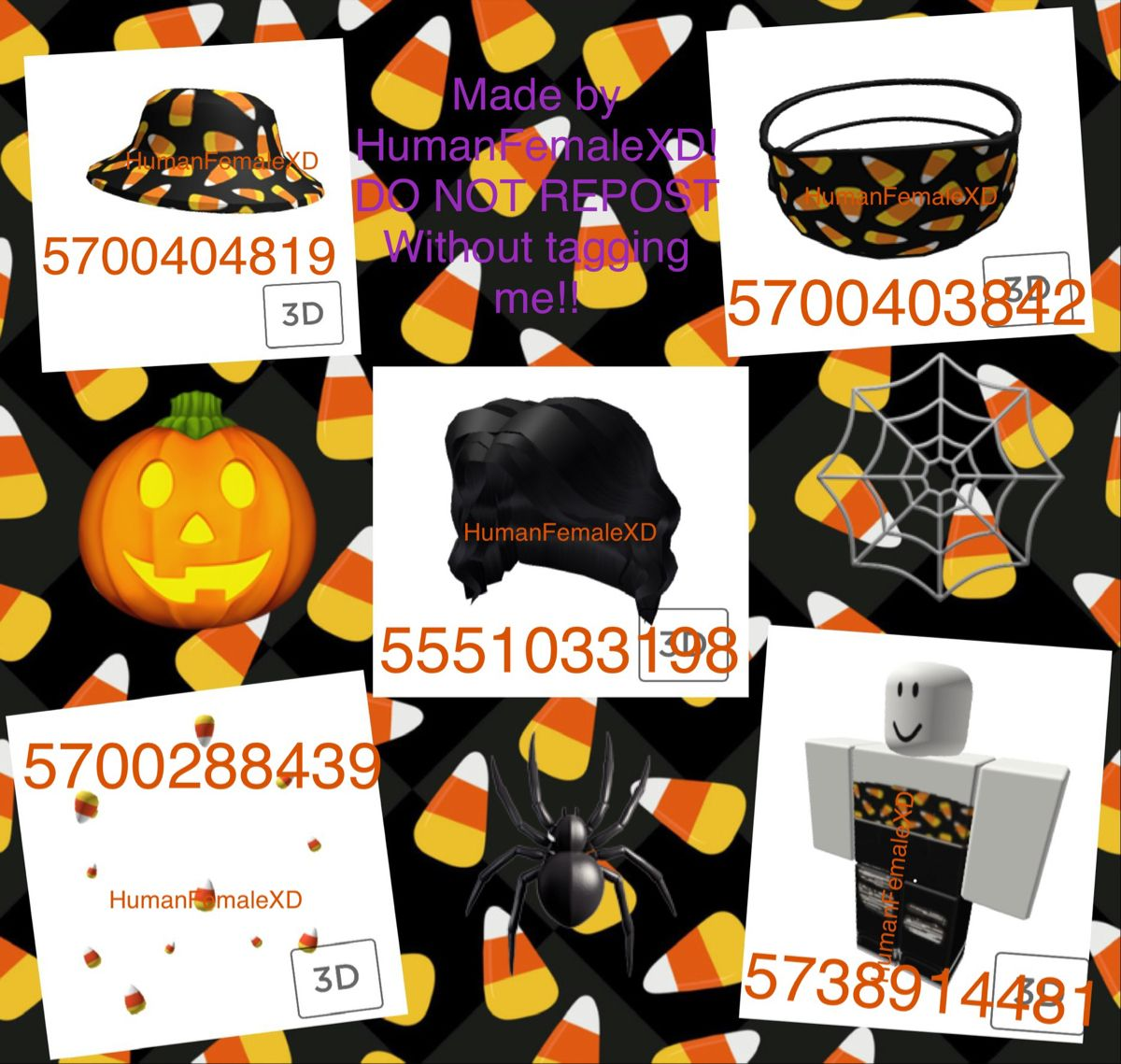 Candy Corn Halloween Roblox Codes ✨