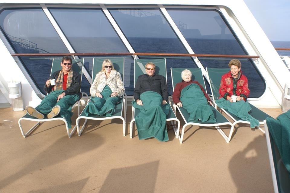 Richard Hunt made friends for life on board a Transatlantic Crossing.