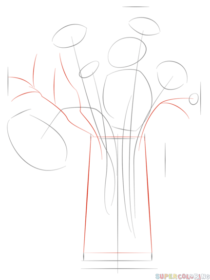 How To Draw A Bouquet Of Flowers Step By Step Drawing Tutorials